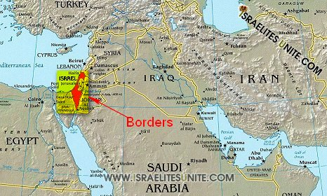 The Promise Land, the Most High God of Israel Borders